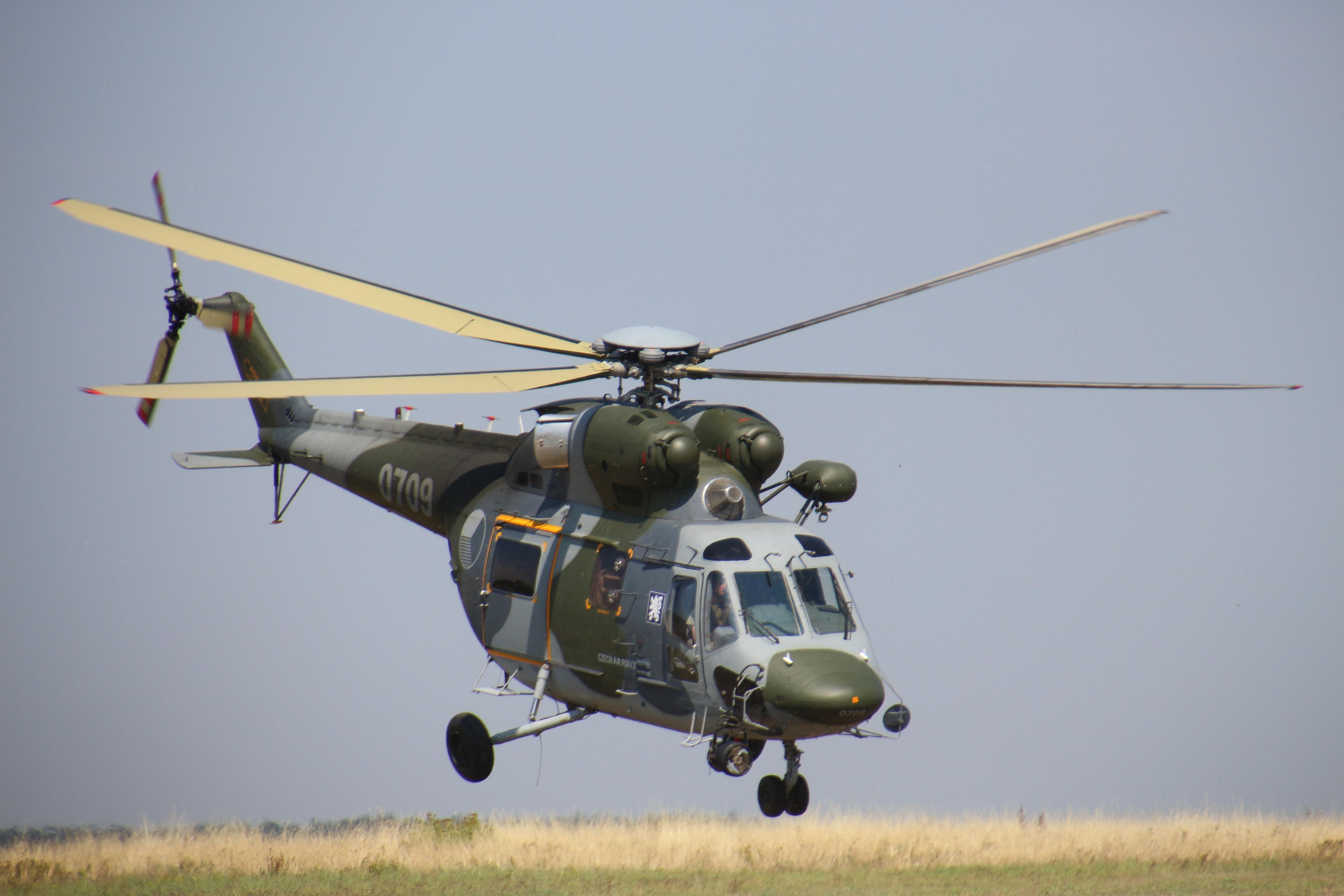 Brannému dni na Táboře Barrandov kraloval vrtulník W-3A Sokol